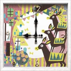 取寄品 送料無料 see saw. シーソー 壁掛け時計 アーティストウォールクロック 可愛いインテリア