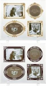 取寄品 グラス アンティーク フォトフレーム 4ウィンドウ ブライダルギフト 結婚祝い 写真立て