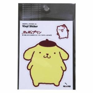 ポムポムプリン ダイカットステッカー サンリオキャラクターグッズ シネマコレクション メール便可