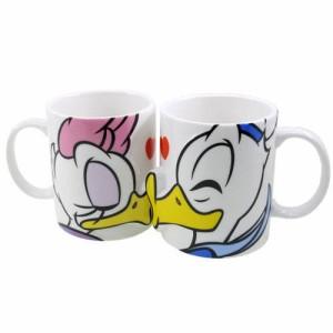 ドナルド&デイジー キス ペアマグカップ2個セット 陶器製 ディズニーキャラクターグッズ シネマコレクション