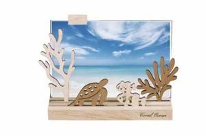 取寄品 珊瑚礁 シルエットフォトフレーム 大人可愛い写真立て