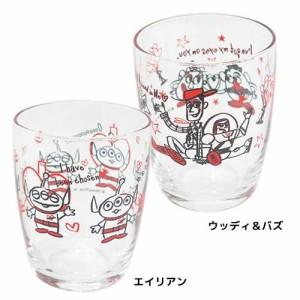 トイストーリー ガラスコップ タンブラーグラス LOVE LOVE ディズニー キャラクター グッズ