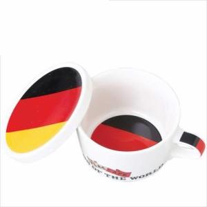取寄品 国旗デザイン ふた付マグカップ フラッグカフェ ドイツ GERMANY 日本製誕生日ギフト雑貨通販