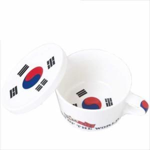 取寄品 国旗デザイン ふた付マグカップ フラッグカフェ コリア 韓国KOREA 日本製誕生日ギフト雑貨通販