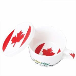 取寄品 国旗デザイン ふた付マグカップ フラッグカフェ カナダ CANADA 日本製誕生日ギフト雑貨通販