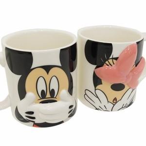 ミッキー&ミニー マグカップ ペアマグカップ2個セット ハイディング ディズニー キャラクター グッズ