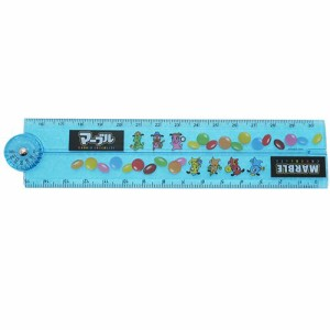 マーブルチョコレート ものさし 分度器付き 30cm 折りたたみ 定規おやつマーケット キャラクターグッズ メール便可