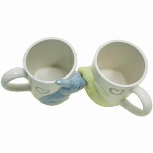 うさぎ マグカップ キスペアマグ 2個セットアニマル かわいい グッズ