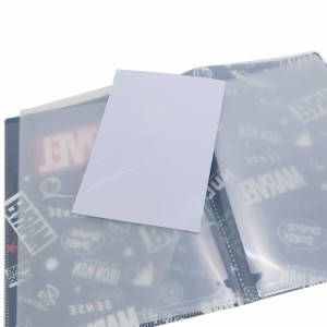 MARVEL ロゴ ファイル 10ポケット A4 クリアファイル チラシ マーベル キャラクターグッズ メール便可