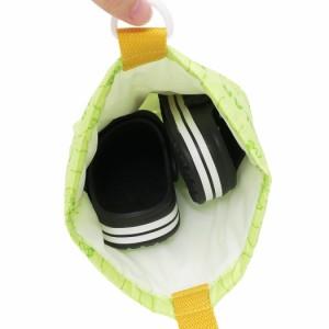 はらぺこあおむし 体育館靴入れ 撥水シューズバッグ グリーン 絵本キャラクター グッズ