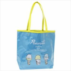 スヌーピー プールバッグ ビニールトートバッグ アイスクリーム ピーナッツ キャラクターグッズ通販
