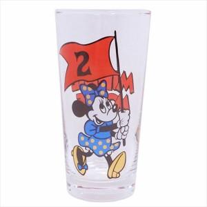 ミニーマウス ガラスコップ グラスタンブラー フラッグ02 ディズニー ギフト雑貨 キャラクター グッズ