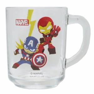 キャプテンアメリカ&スパイダーマン グラス タンブラー ガラスマグ グリヒル マーベル ギフト食器 キャラクター グッズ