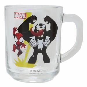 スパイダーマン&ヴェノム グラス タンブラー ガラスマグ グリヒル マーベル ギフト食器 キャラクター グッズ