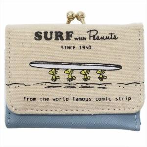 5348619c656b スヌーピー ミニウォレット 三つ折り財布 ウッドストック SURF ピーナッツ ジュニア キャラクター グッズ