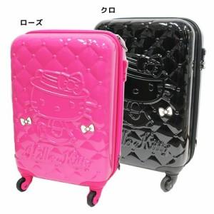 a36b6d80fd ハローキティ スーツケース 115cmキャリーケース キルティング柄 サンリオ 機内持ち込み可 キャラクター グッズ 送料
