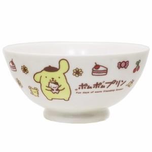 ポムポムプリン お茶碗 磁器製ライスボウル スイーツ&プリン サンリオ 日本製 キャラクター グッズ