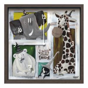武内祐人 掛け時計 Artist Clock CAC-51616 26.7×26.7×4.6cm 可愛い インテリア 取寄品 送料無料