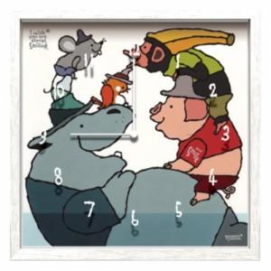 武内祐人 掛け時計 Artist Clock CAC-51617 26.7×26.7×4.6cm 可愛い インテリア 取寄品 送料無料