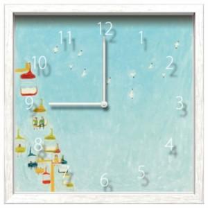 シマザキ ミユキ 掛け時計 Artist Clock CAC-51621 26.7×26.7×4.6cm 可愛い インテリア 取寄品 送料無料