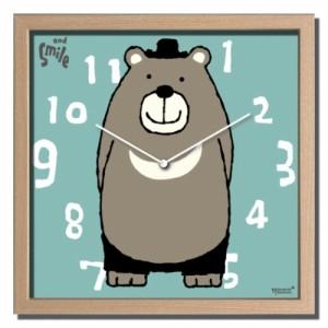 武内祐人 掛け時計 Artist Clock クマ CAC-52637 ギフト 可愛い インテリア 取寄品 送料無料