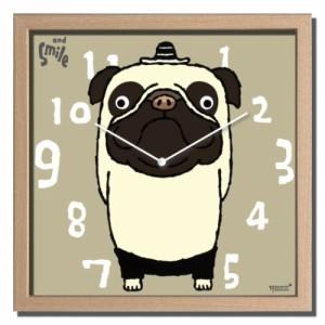 武内祐人 掛け時計 Artist Clock パグ CAC-52638 ギフト 可愛い インテリア 取寄品 送料無料