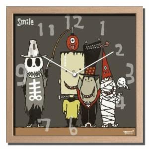 武内祐人 掛け時計 Artist Clock モンスター CAC-52639 ギフト 可愛い インテリア 取寄品 送料無料