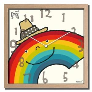 武内祐人 掛け時計 Artist Clock 虹 CAC-52640 ギフト 可愛い インテリア 取寄品 送料無料
