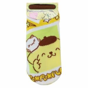 ポムポムプリン 子供用 靴下 キッズソックス フォト サンリオ キャラクター グッズ メール便可