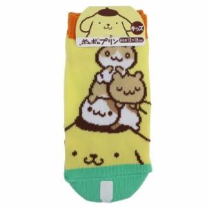 ポムポムプリン 子供用靴下 キッズ ソックス フレンズ サンリオ キャラクター グッズ メール便可