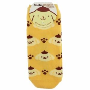 ポムポムプリン 女性用 靴下 レディース ソックス アイコン サンリオ キャラクター グッズ メール便可