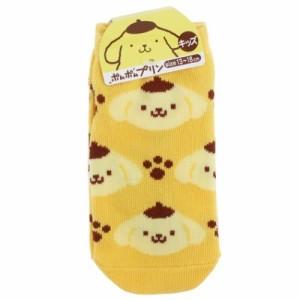 ポムポムプリン 子供用 靴下 キッズ ソックス アイコン サンリオ キャラクター グッズ メール便可