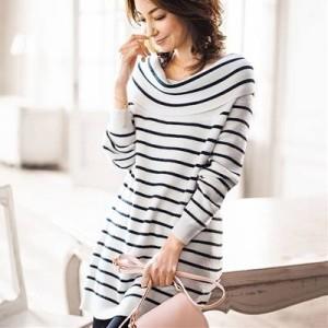 チェニックシャツ ニットチュニック 大きいサイズ ブラウス 秋冬 ママの味方 ミセスファッション きれいなママ 体型カバー
