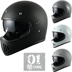 零ONE モタードヘルメット インナーシールド標準装備
