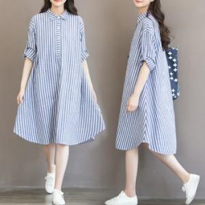 885550f679901 送料無料 シャツ ワンピース ワンピ 妊婦服 マタニティ 大きいサイズ 体型カバー ルームウェア 721