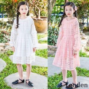 3362480115a6d 韓国子供服 女の子 おしゃれ キッズ 発表会 可愛いドレス ジュニア レースワンピースドレスセットお姫様