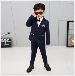 575014c4a1f6a 5点セット キッズスーツ 男の子スーツ 花柄 子供服スーツ フォーマルスーツ 入学式 ジュニア 男児 卒園式 ピアノ 男の子 90~140 の通販は Wowma!