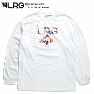 エルアールジー LRG ロンT ロングスリーブTシャツ 長袖 メンズ 白 L XL 2L LL 2XL 3L XXL 3XL 4L XXXL 大きいサイズ b系 ヒップホップ ス