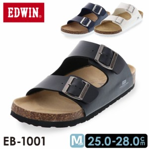 EDWIN エドウイン メンズ サンダル カジュアル コンフォート ダブルベルト ブラック 黒 ホワイト 白 ネイビー 紺 EB-1001ニホン