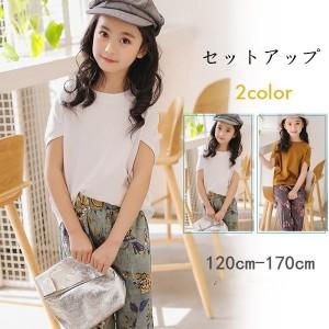 302d705338799 セットアップ 上下セット 女の子 子供服 半袖 カットソー ショットパンツ ハーフパンツ キッズ tシャツ 韓国