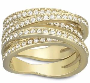 5081ec4f5 スワロフスキー スパイラル リング ゴールド 5032927 Swarovski Spiral Ring □