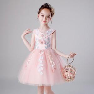 子供 ドレス 膝丈 キッズドレス ピアノ 発表会 女の子 ドレス 子ども 子供 結婚式 ドレス フォーマル 子供服 ワンピース 可愛い レース