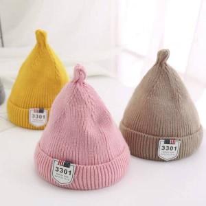 eb92f202a6838 秋新作帽子子供用帽子 とんがり帽子 ニット帽 キッズ 帽子 子供用帽子 こどもニット帽 tm006