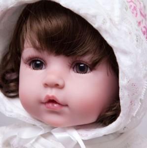 リボーンドール 女の子 赤ちゃん人形 ベビー人形 ベビードール トドラー リアル 衣装付き 綿ボディ 55cm かわいいフードつきベビー服