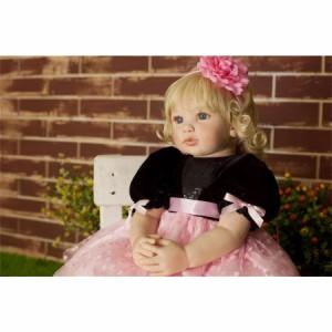 リボーンドール プリンセスドール トドラードール 抱き人形 赤ちゃん人形 ベビードール 24インチ 高級 服 衣装付き ボブヘア