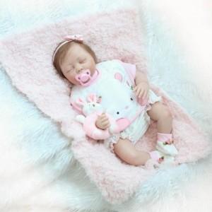 22インチ 高級 おねんね すやすや 新生児 女の子 リボーンドール 赤ちゃん人形 ベビー人形 ベビードール トドラードール