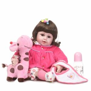 リボーンドール 元気な女の子 プリンセスドール トドラー人形 赤ちゃん人形 ベビー人形 ベビードール リアル 衣装付き/綿&シリコン 50cm