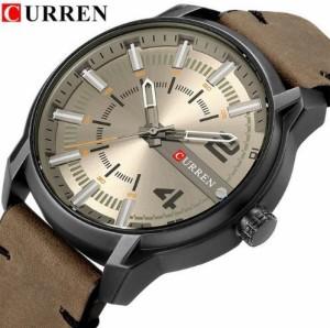 550b21c178 CURREN メンズ腕時計 海外トップブランド メンズファッション クォーツ時計 アナログ (ブラックグレー)