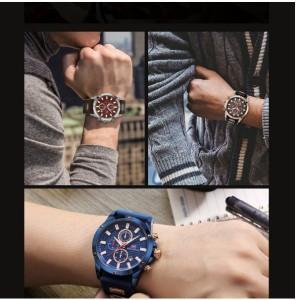 5a90bba8e2 送料無料◇MINIFOCUS メンズ 腕時計 クロノグラフ クォーツ スポーツ ミリタリー カジュアル 海外ブランド 箱付 ブルー