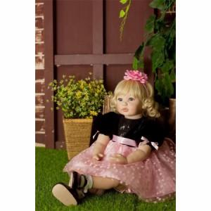 【税込】 リボーンドール プリンセスドール トドラードール 抱き人形 赤ちゃん人形 ベビードール 24インチ 服 衣装付き ボブヘア